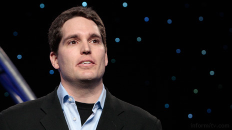 Jason Kilar, the chief executive of Hulu, speaking at NAB in Las Vegas. Photo: NAB