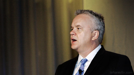 Tim Robbins, the actor, writer, director and producer, speaking out at NAB in Las Vegas. Photo: NAB
