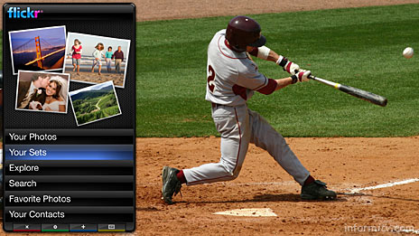 Intel and Yahoo! plan to add internet widgets to television, enabling a fusion of internet and television services, such as viewing photos on Flickr while watching baseball.