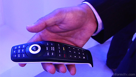 Universal Electronics Dolphin remote control based on Freespace motion control technology from Hillcrest Labs.