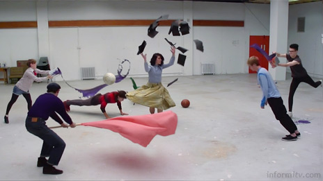 The Toshiba timesculpture commercial builds on the slice of time technique, showing sequences of action from all angles.