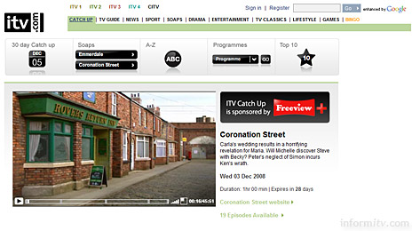 The ITV Player online video player is now also based on Microsoft Silverlight.