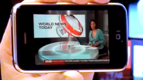 Livestation live video service shown on an Apple iPhone.