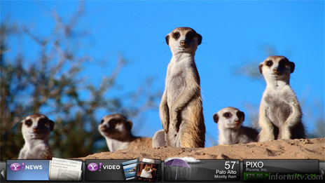 Yahoo! widgets aim to deliver interactive features to internet connected televisions.
