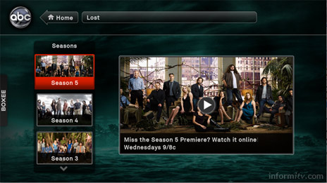 Boxee can also stream programmes like Lost from the ABC web site.