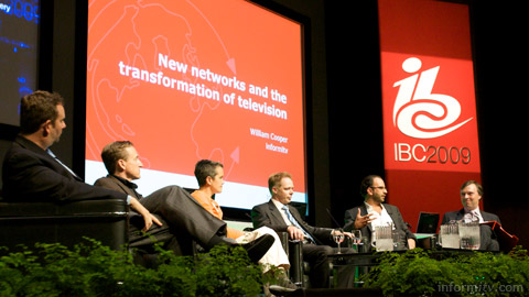 Ken Morse, Ted Malone, Jen Taylor, Rob van den Dam, Patrick Walker and William Cooper at IBC. Photo: informitv.