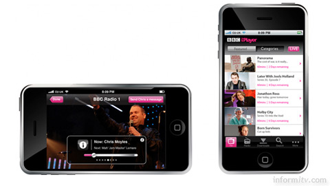 A visual indicating that a native iPhone iPlayer may be in development.