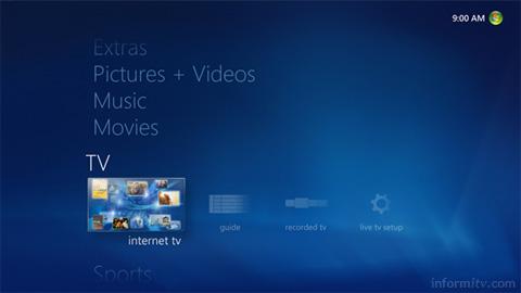 Microsoft Media Center in Windows 7. Source: Microsoft.