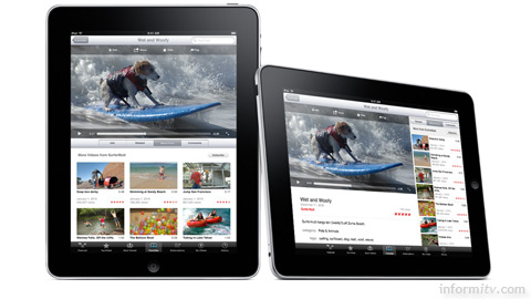 Apple iPad showing YouTube videos. Photo: Apple.