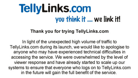 Tellylinks launches apology for service.