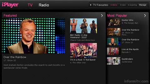 The beta release of the revised BBC iPlayer.