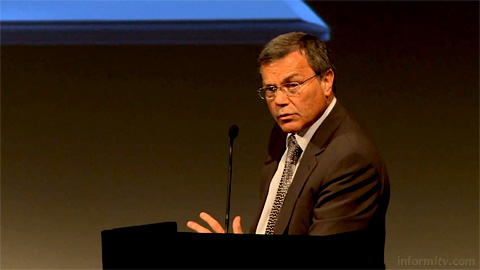 Sir Martin Sorrell, the chief executive of WPP Group, speaking at the Shaping the Future of TV conference organised by Intel.