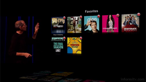 Apple chief executive Steve Jobs and some of his favourite shows. Source: Apple