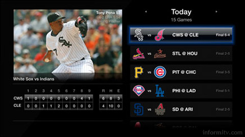 Apple TV now includes live baseball through a MLB application.