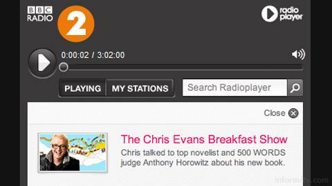 BBC Radio 2 on the Radioplayer.