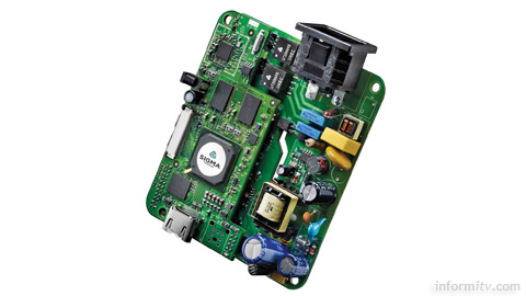 Sigma Designs 8670-2110 Ultra Thin reference design integrated circuit board.