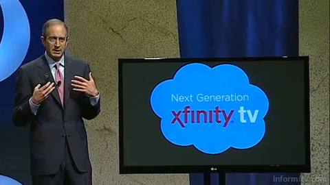 Comcast chief executive Brian Roberts introduces the Xfinity platform at The Cable Show in Chicago