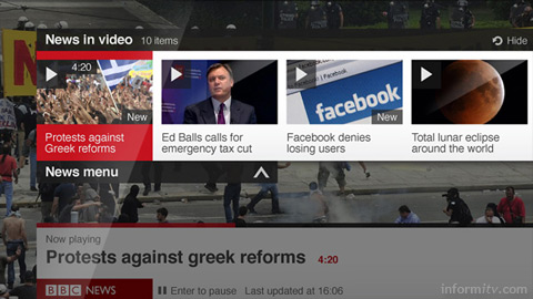 The BBC News app available on Samsung Smart TVs and subsequently other connected devices and displays.