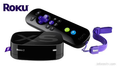Roku 2 XS with Game Remote using HillCrest Labs Freespace technology.