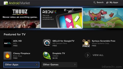 Google TV Android Market.