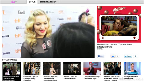 Burst Media, a subsidiary of blinkx, has launched video channels such as ella that can be embedded on third-party sites