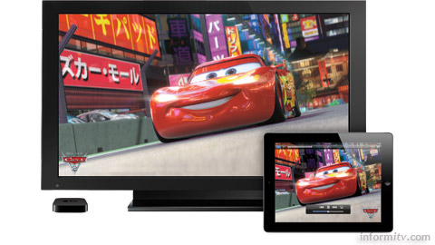 Apple AirPlay allows video to be streamed from Apple devices to the Apple TV.