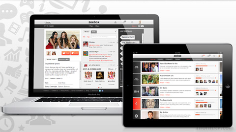 Zeebox connects users with television through Twitter and Facebook.