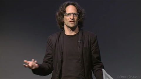 Anthony Rose of zeebox speaking at The Great Connected Television Debate. Image courtesy IBC/IET.