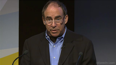 Saul Berman of IBM speaking at The Great Connected Television Debate. Image courtesy IBC/IET.