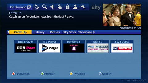 Sky responds with its own On Demand service, available through broadband connected Sky+ HD boxes.