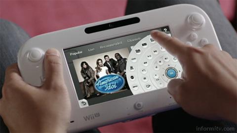 Nintendo Wii U TVii interface. Image courtesy Nintendo.