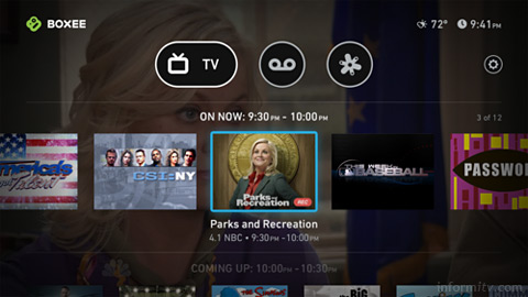 Boxee TV user interface.