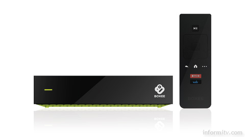 Boxee TV box offers unlimited cloud-based storage.