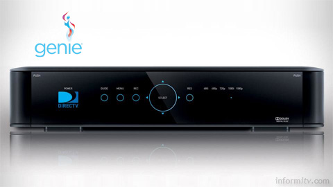 DIRECTV Genie serves multiple rooms using RVU technology to deliver a remote user interface to compatible client devices.