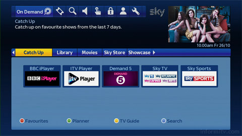 BBC iPlayer on Sky+.