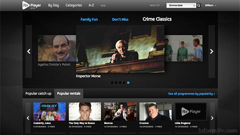 ITV Player now integrates payments for programme rentals