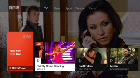 BBC connected red button available on Virgin Media.
