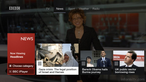 BBC connected red button news service.