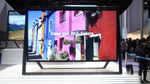 Samsung UHD TV on show at the International CES 2013 in Las Vegas.
