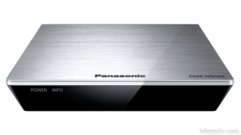 Panasonic DMP-MST60 media streamer supports Miracast display monitoring from compatible Android devices.