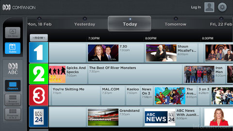 The ABC Companion provides a programme guide but only to ABC channels.