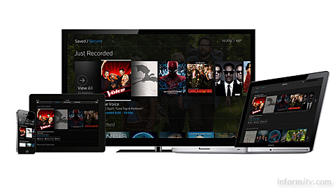 Comcast X2 as it is intended to appear across multiple screens.