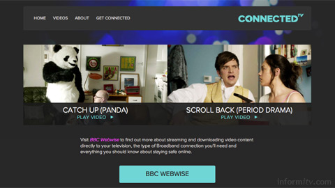 Dedicated web site thefutureisconnected.co.uk to promote the connected future of television.