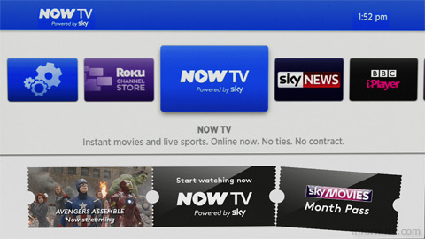 The Sky NOW TV box is available for less than ten pounds.