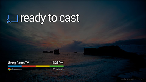 Google Chromecast device relies on apps for remote control.