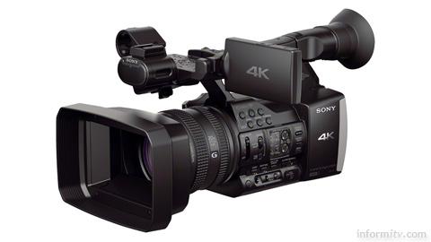 Sony FDR-AX1E 4K camcorder. Image: Sony