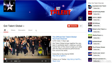 Got Talent franchise gains global YouTube channel.
