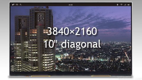 Japan Display Inc prototype of a 12.1 inch Ultra-HD screen