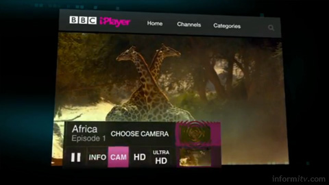 BBC iPlayer may carry Ultra HD material in the future. Source: BBC