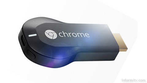 Google Chromecast HDMI dongle device.